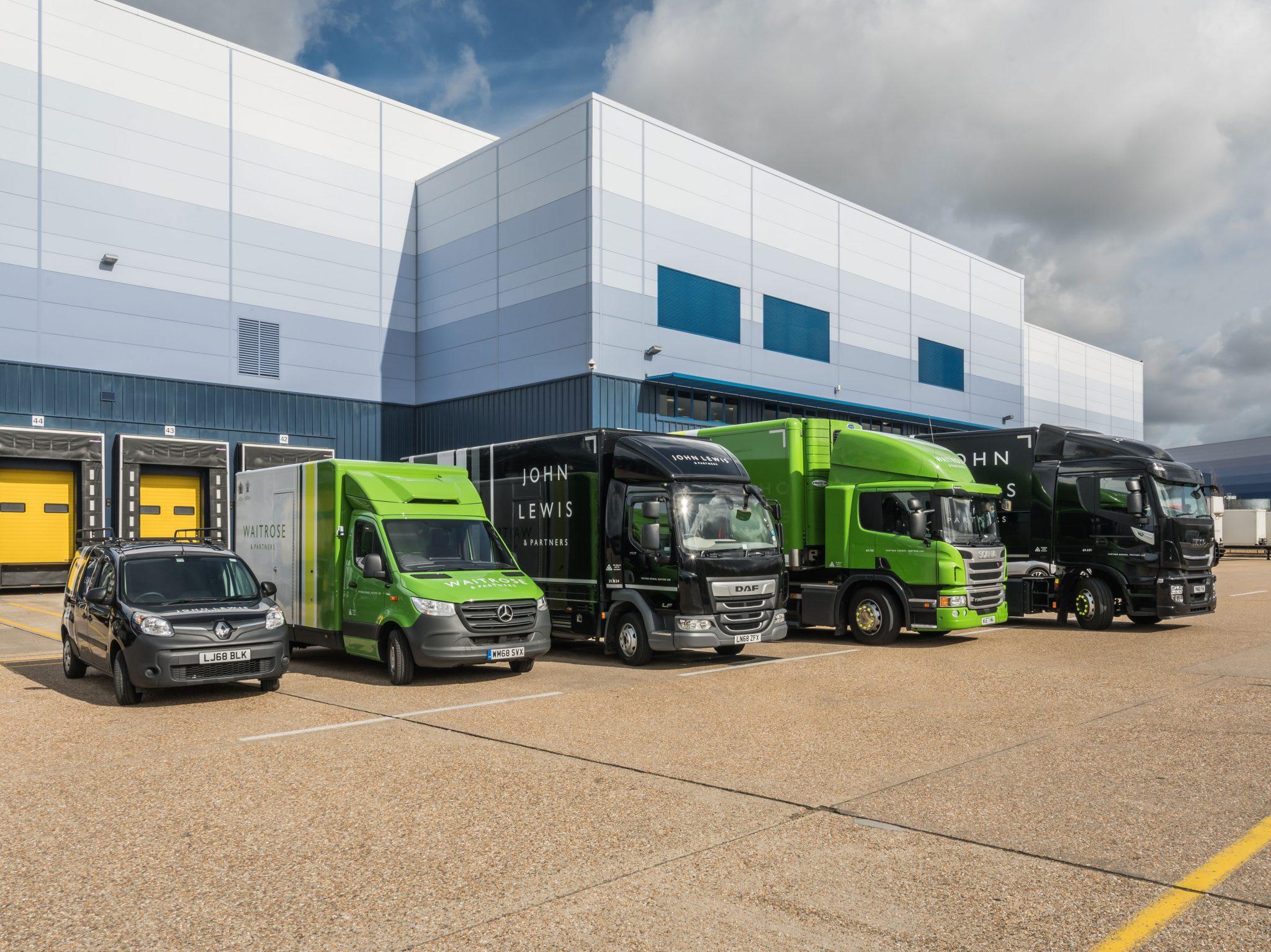 Green goods vehicles from John Lewis Partnership