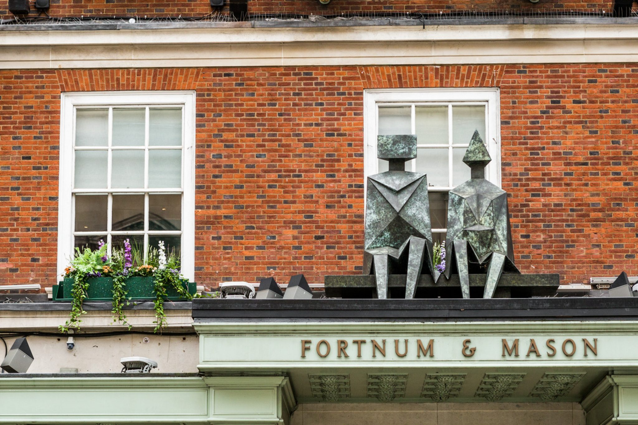 Fortnum 's displays recyled planters outside London store