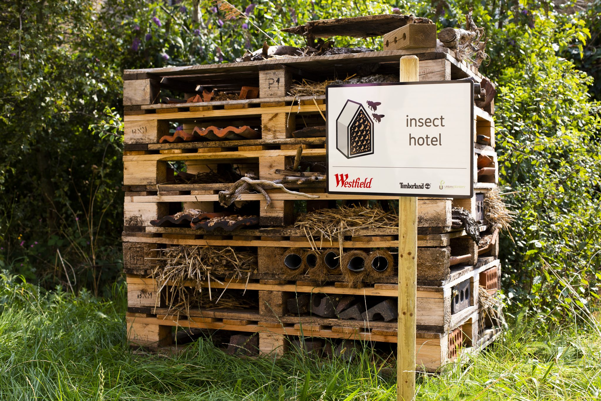 The Westfield London nature reserve has opened in association with Timberland