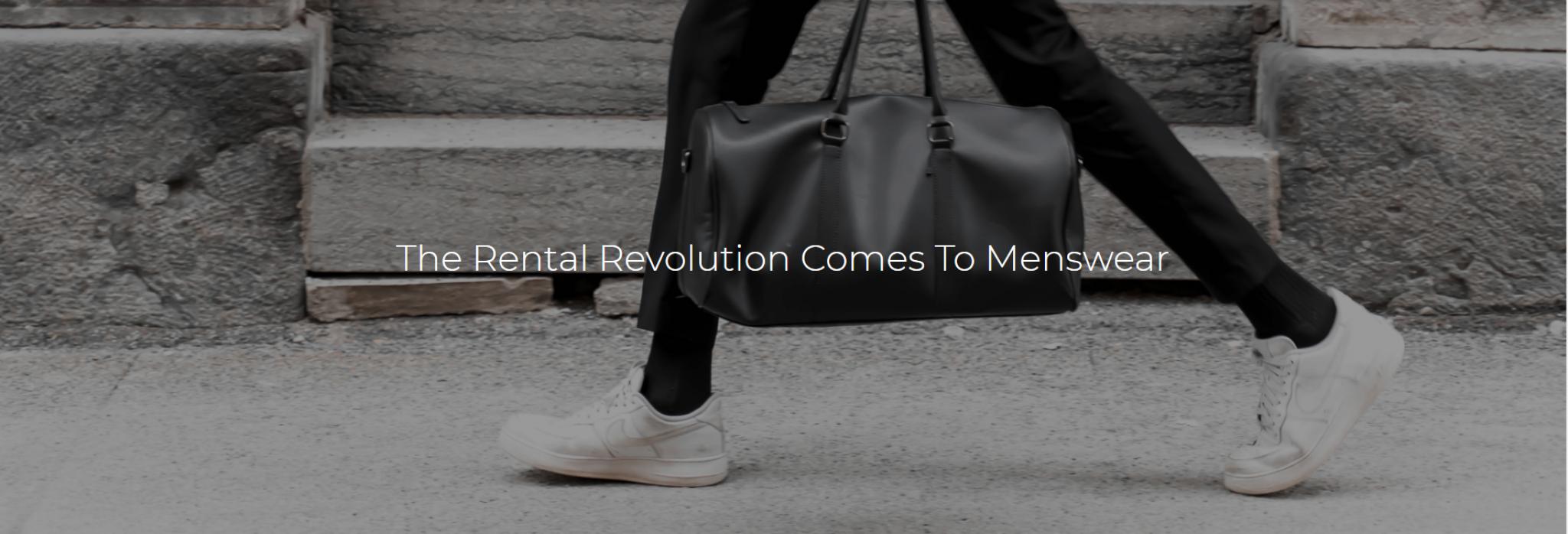Menswear rental website Garmentry