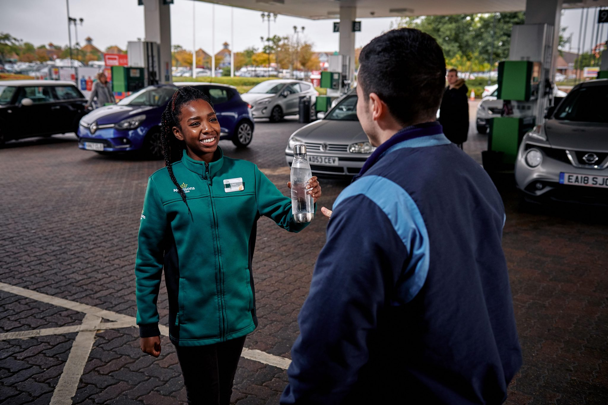 Free water refills are now available at Morrisons' forecourt stores