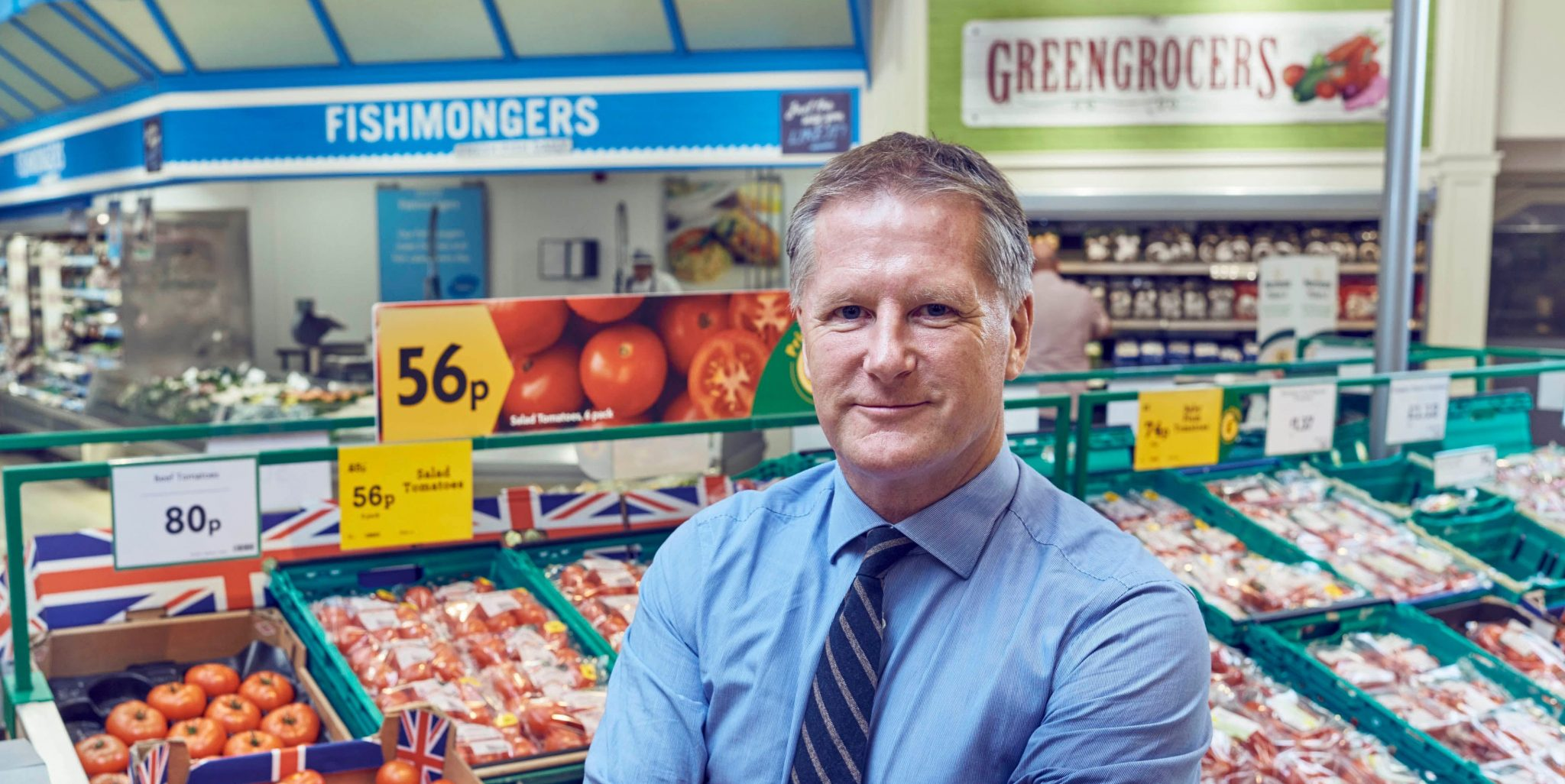 Morrisons' boss Dave Potts is talking up sustainable farming