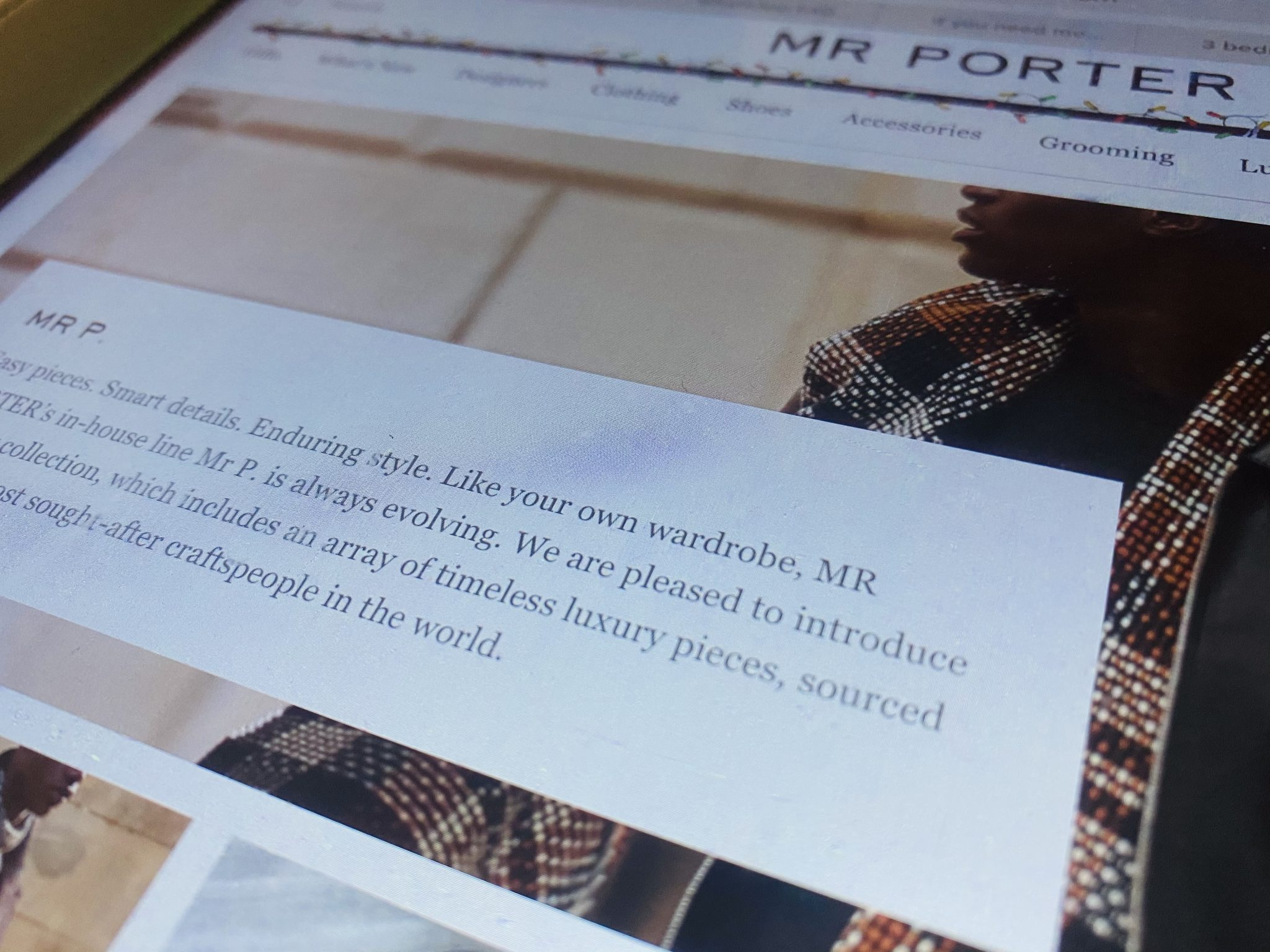 Mr Porter's Mr P range is first to use the digtal ID on clothing