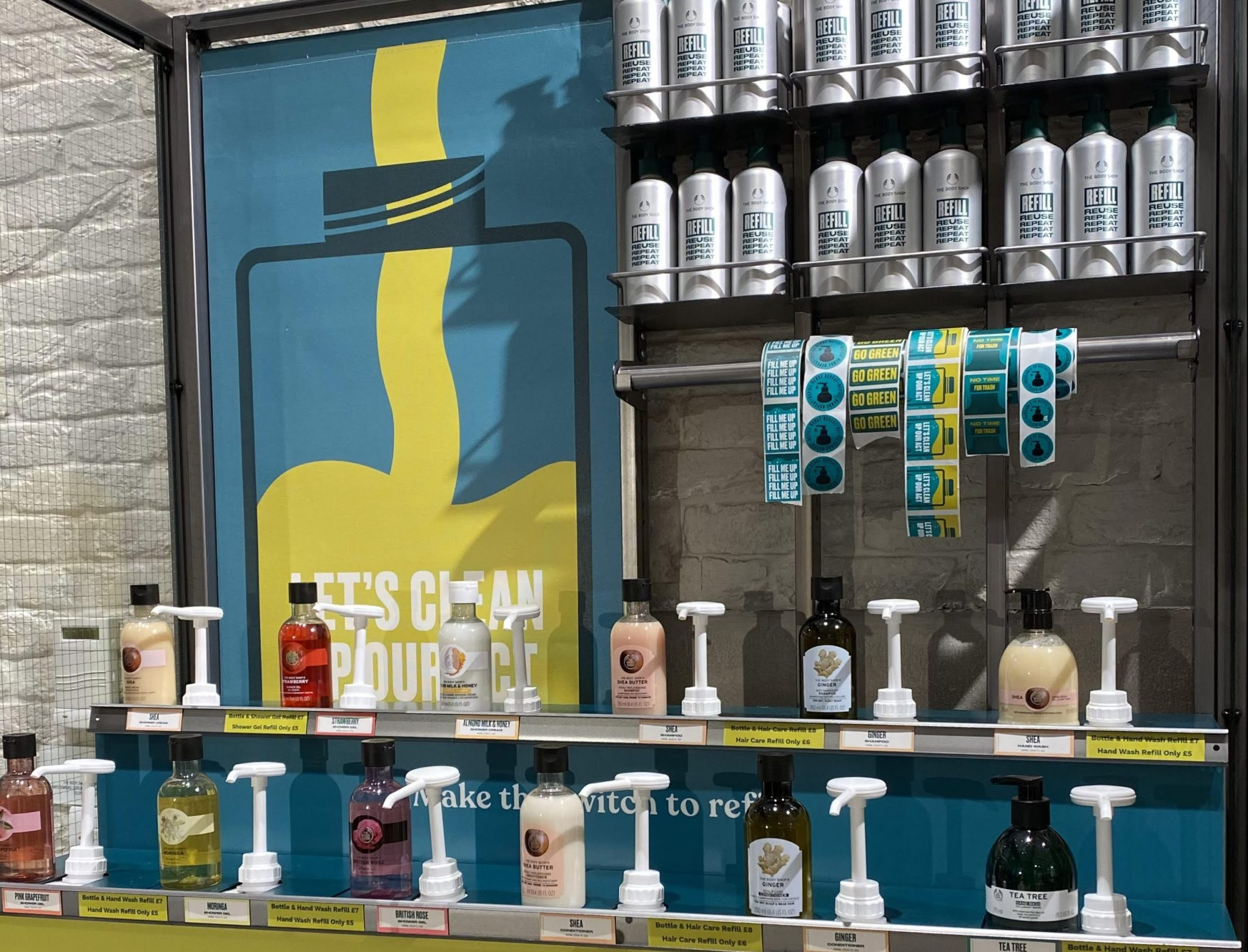 The Body Shop is runnign a Return, Recycle, Repeat initiative in stores