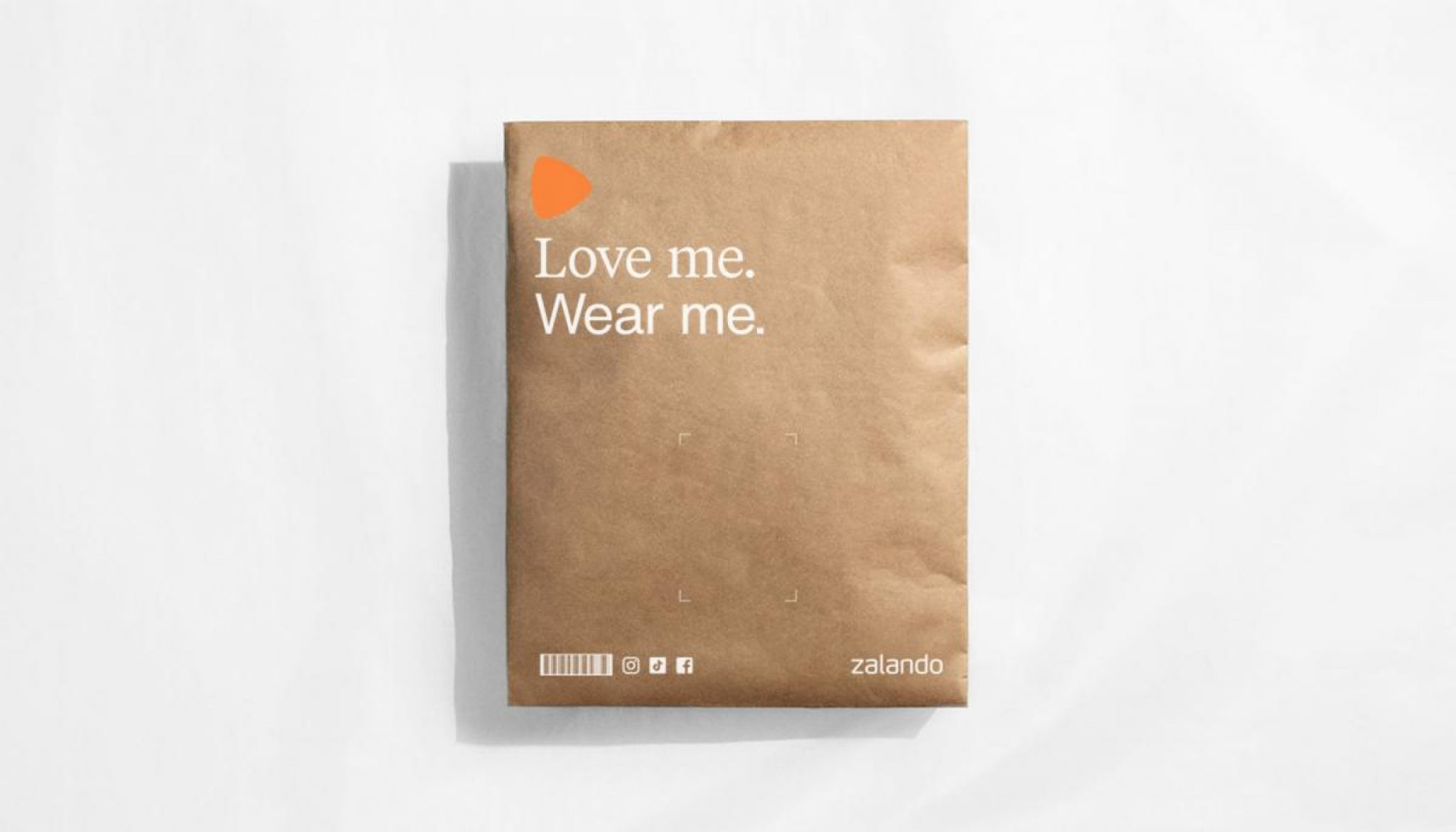Zalando using recyclable paper bags for shipping